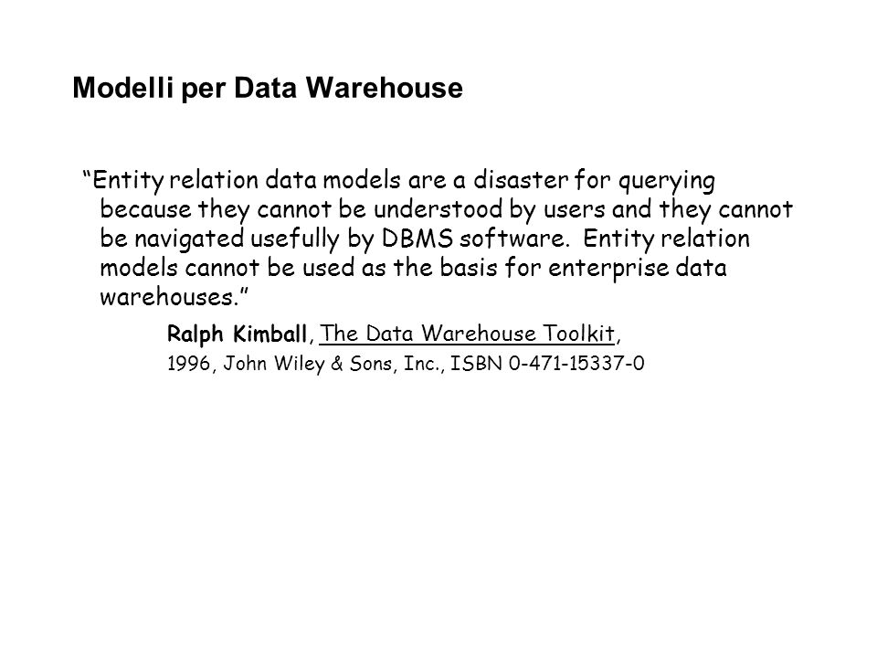 Modelli per Data Warehouse