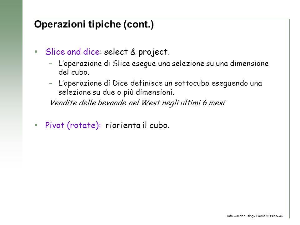 Operazioni tipiche (cont.)