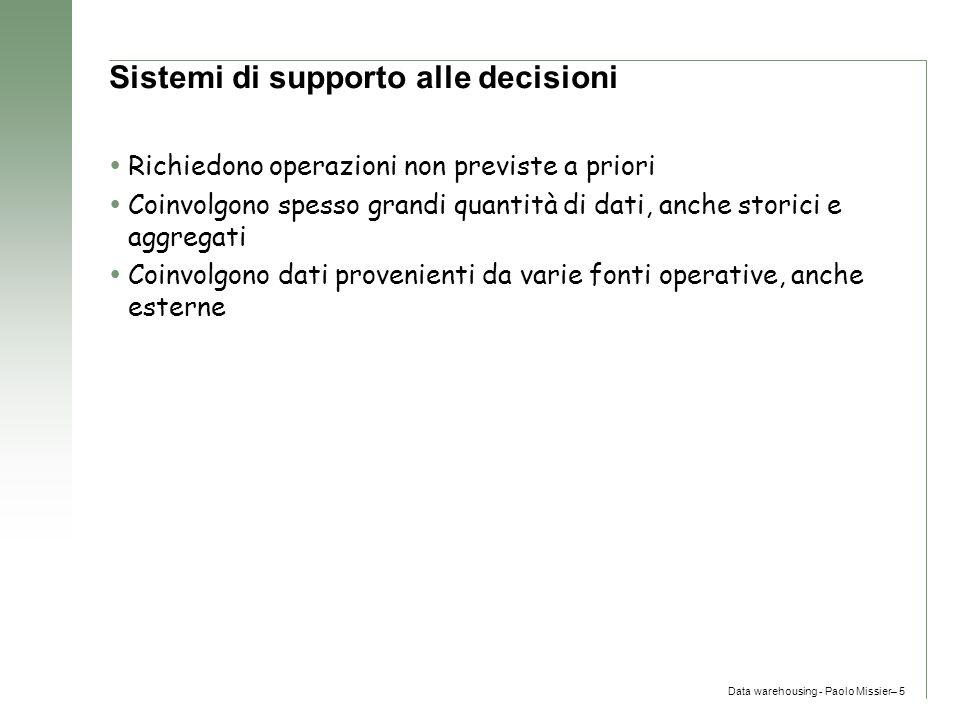 Sistemi di supporto alle decisioni
