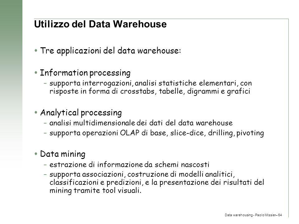 Utilizzo del Data Warehouse
