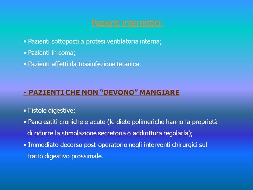 Pazienti internistici: