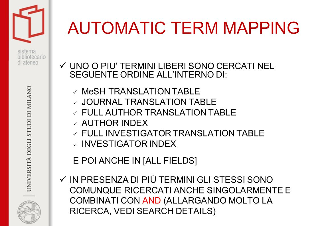 AUTOMATIC TERM MAPPING