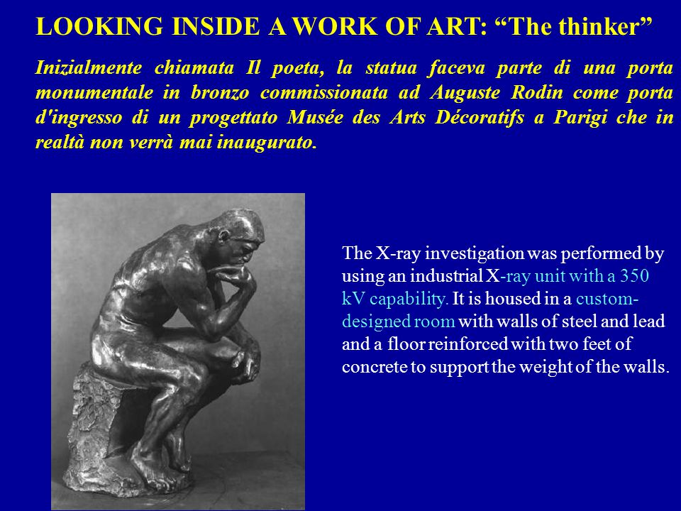 LOOKING INSIDE A WORK OF ART: The thinker