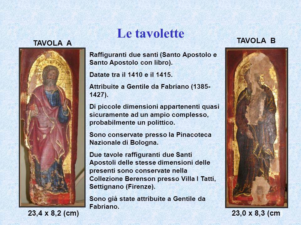 Le tavolette TAVOLA B TAVOLA A 23,4 x 8,2 (cm) 23,0 x 8,3 (cm)