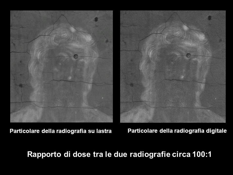 Rapporto di dose tra le due radiografie circa 100:1