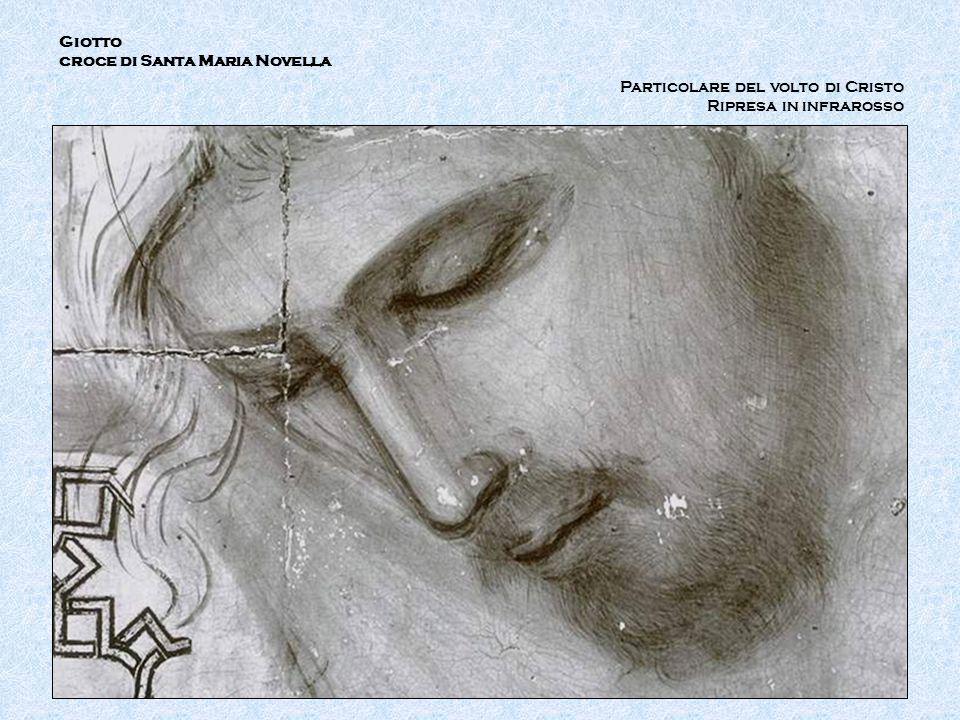 Giotto croce di Santa Maria Novella Particolare del volto di Cristo Ripresa in infrarosso