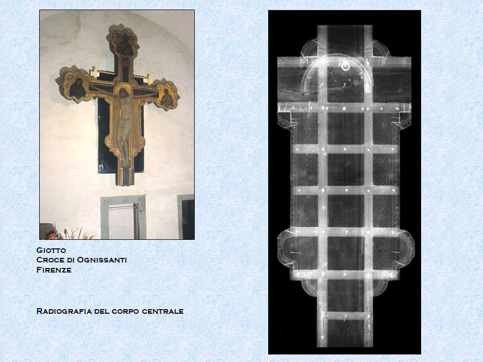 Giotto Croce di Ognissanti Firenze Radiografia del corpo centrale