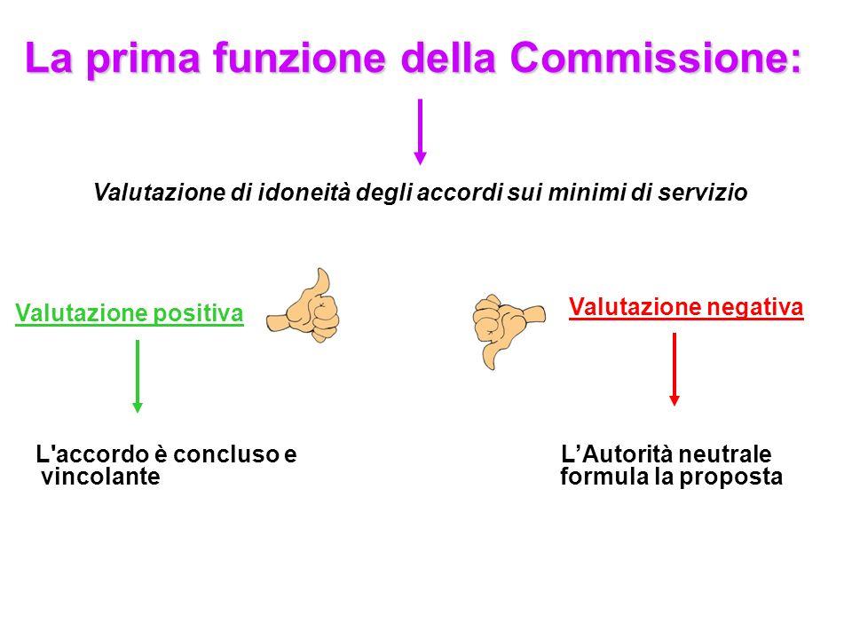 La prima funzione della Commissione: