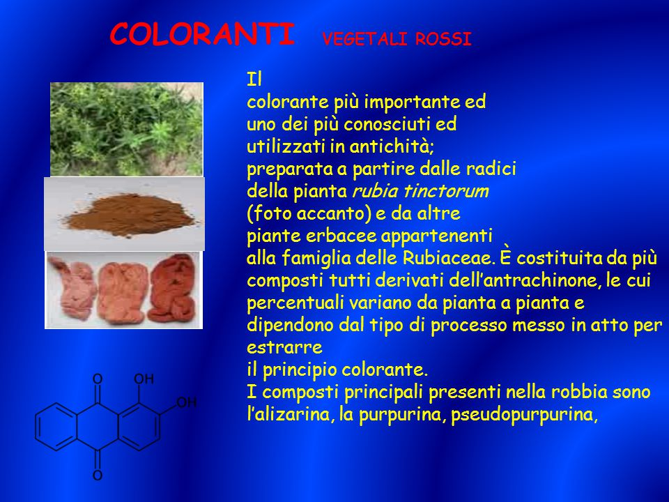 COLORANTI VEGETALI ROSSI
