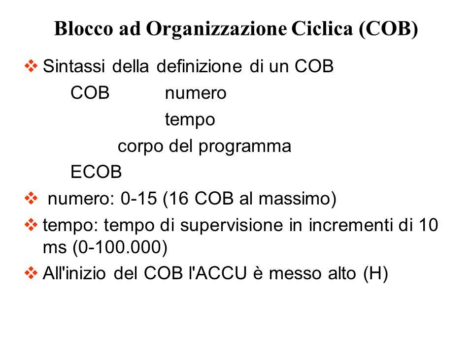 Blocco ad Organizzazione Ciclica (COB)