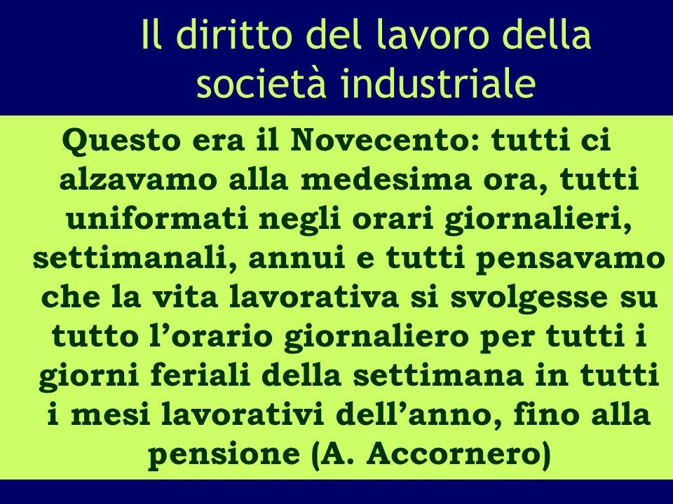 Il diritto del lavoro della società industriale