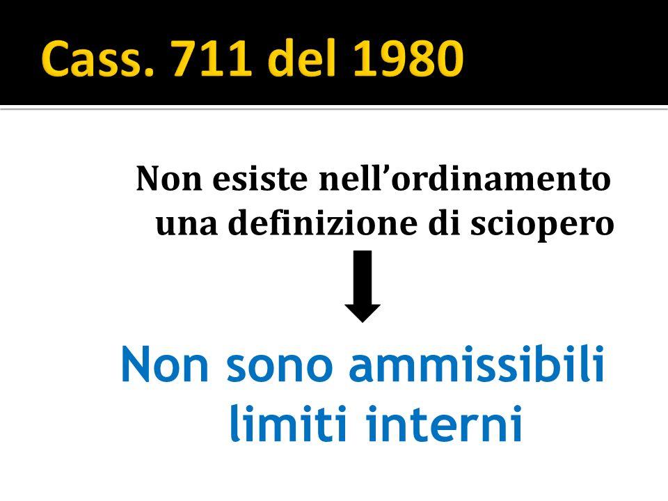 Cass. 711 del 1980 Non sono ammissibili limiti interni