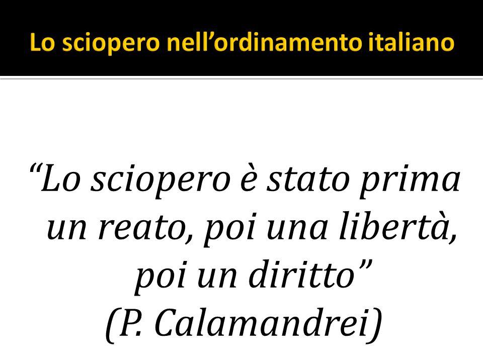 Lo sciopero nell'ordinamento italiano