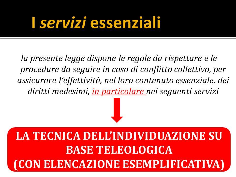 I servizi essenziali