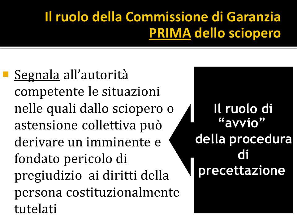 Il ruolo della Commissione di Garanzia PRIMA dello sciopero