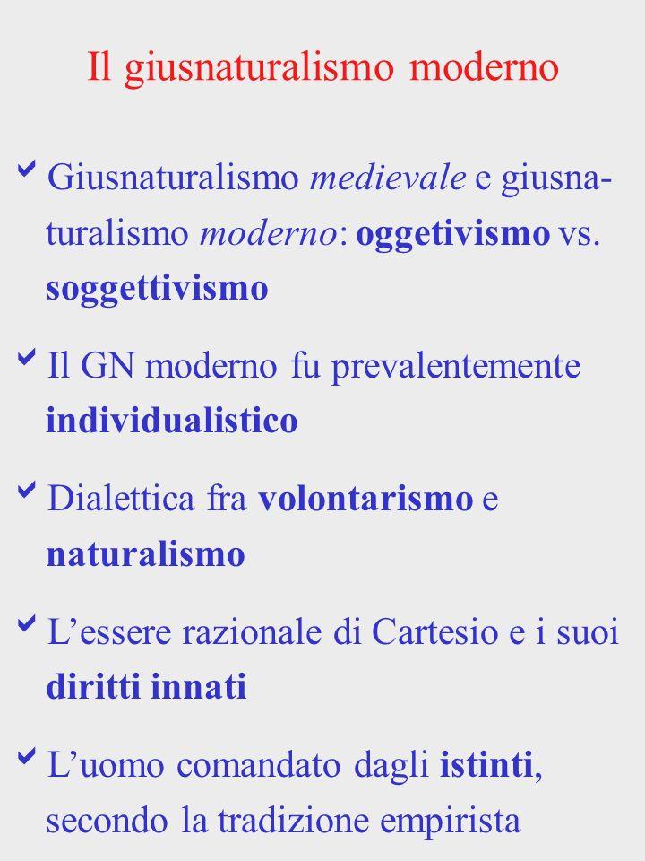 Il giusnaturalismo moderno