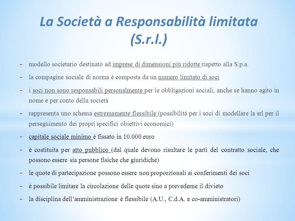 La Società a Responsabilità limitata (S.r.l.)