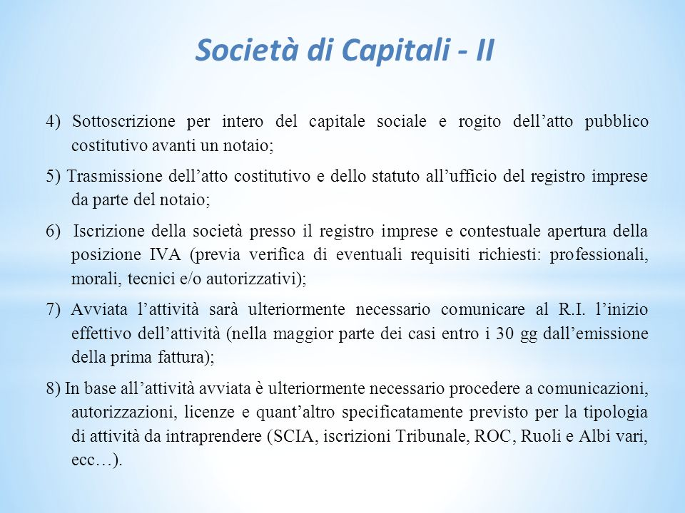 Società di Capitali - II