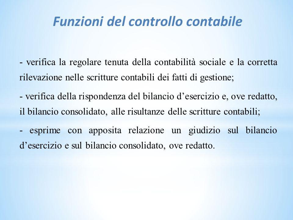 Funzioni del controllo contabile
