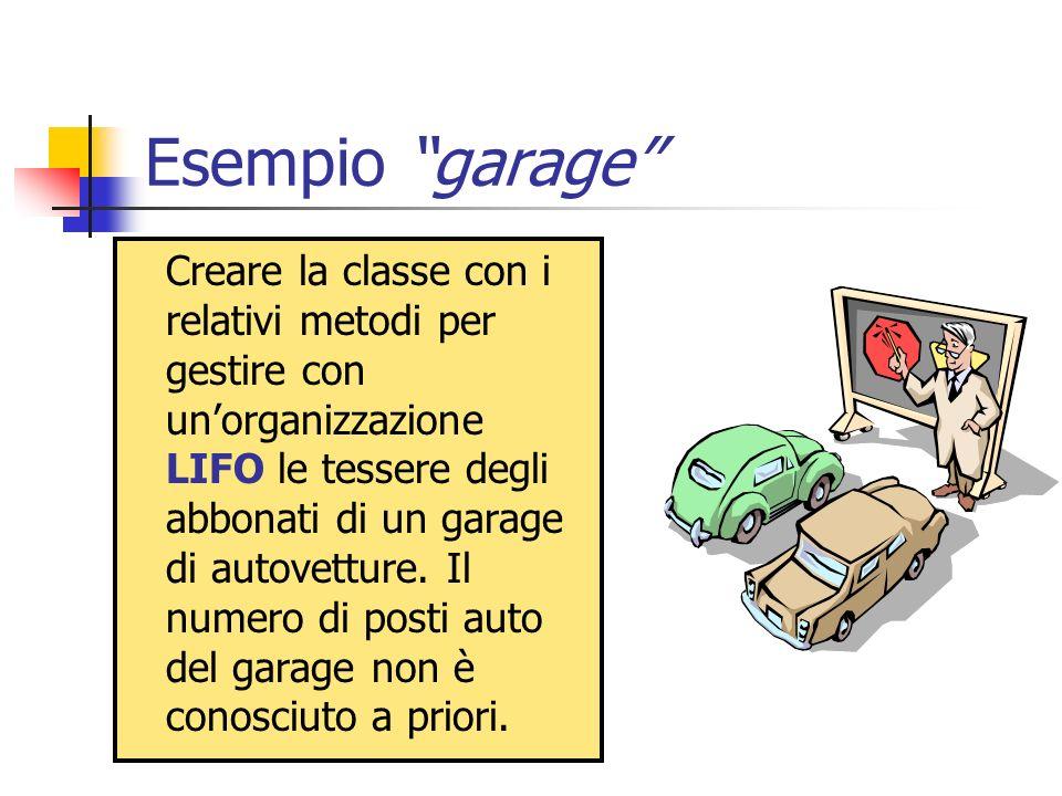 Esempio garage