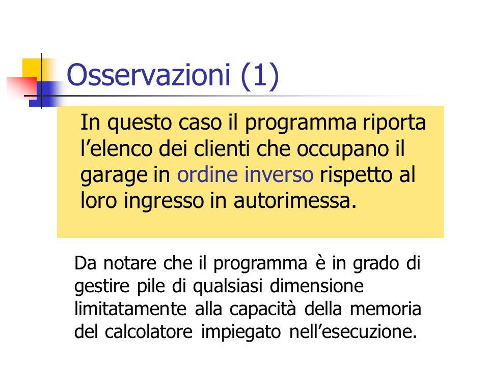 Osservazioni (1)