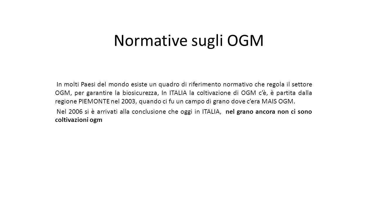 Normative sugli OGM