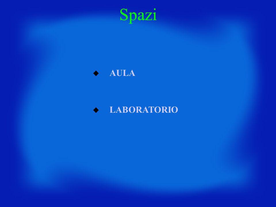 Spazi AULA LABORATORIO