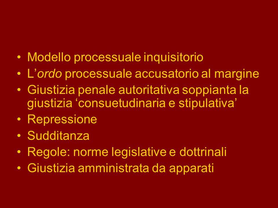 Modello processuale inquisitorio