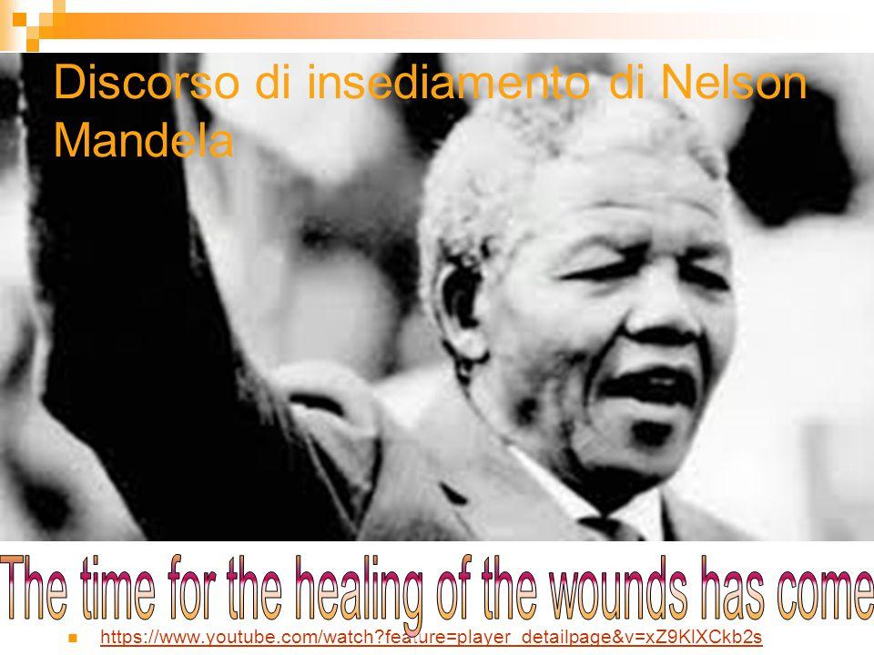 Discorso di insediamento di Nelson Mandela