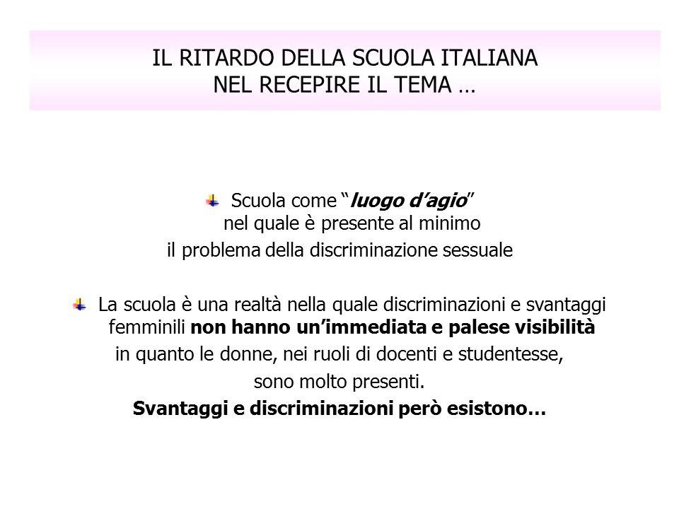 IL RITARDO DELLA SCUOLA ITALIANA NEL RECEPIRE IL TEMA …