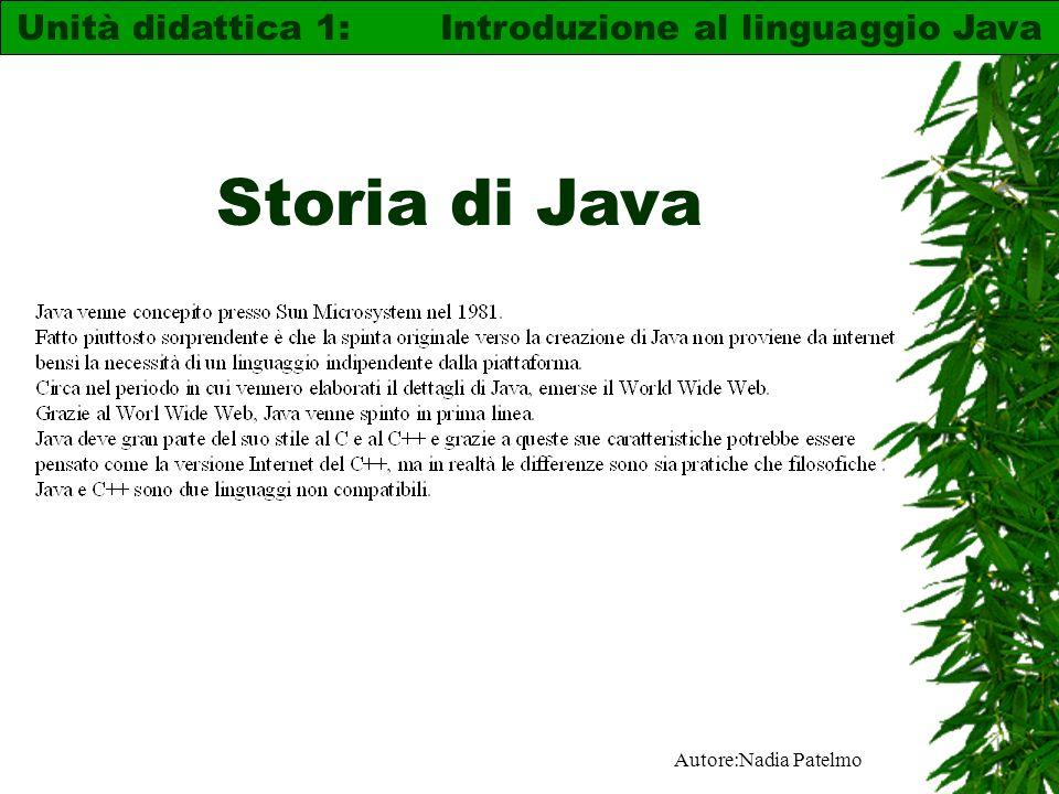 Unità didattica 1: Introduzione al linguaggio Java