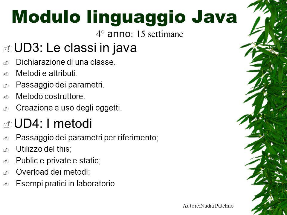 Modulo linguaggio Java