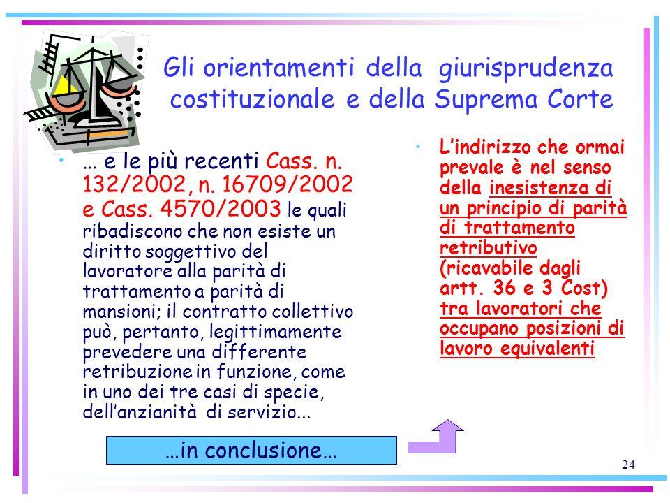 Gli orientamenti della giurisprudenza costituzionale e della Suprema Corte