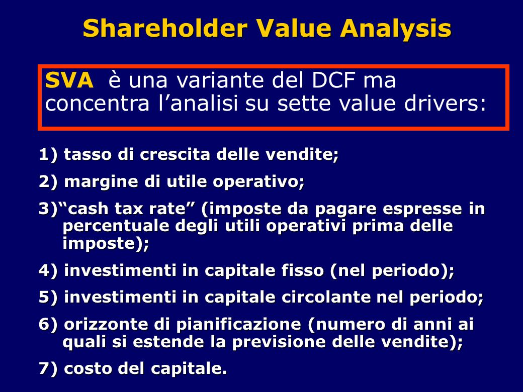 Shareholder Value Analysis