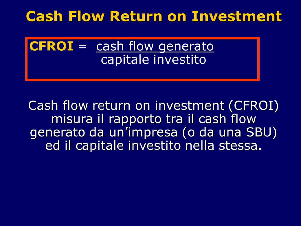 Cash Flow Return on Investment