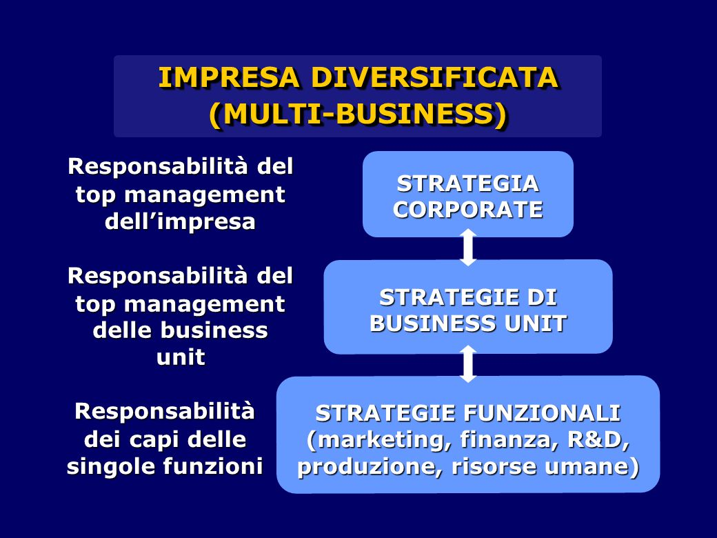 IMPRESA DIVERSIFICATA STRATEGIE DI BUSINESS UNIT
