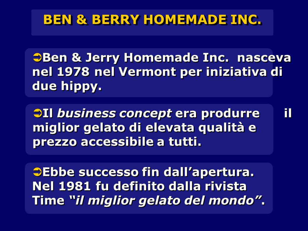 BEN & BERRY HOMEMADE INC.