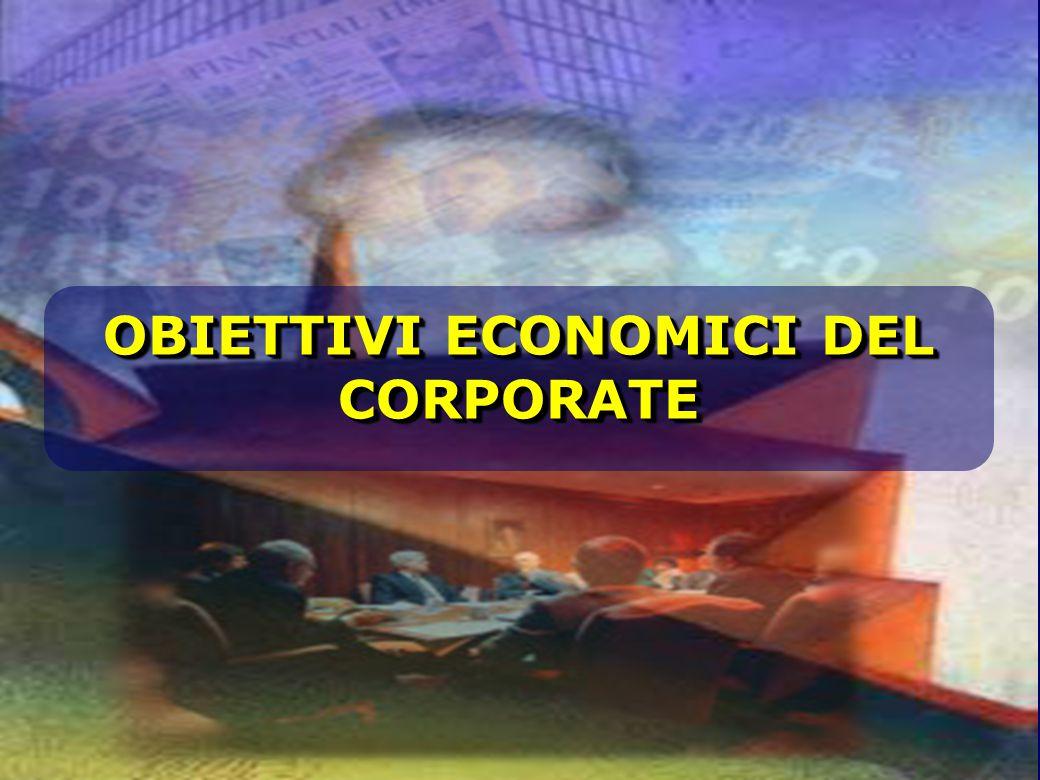 OBIETTIVI ECONOMICI DEL CORPORATE