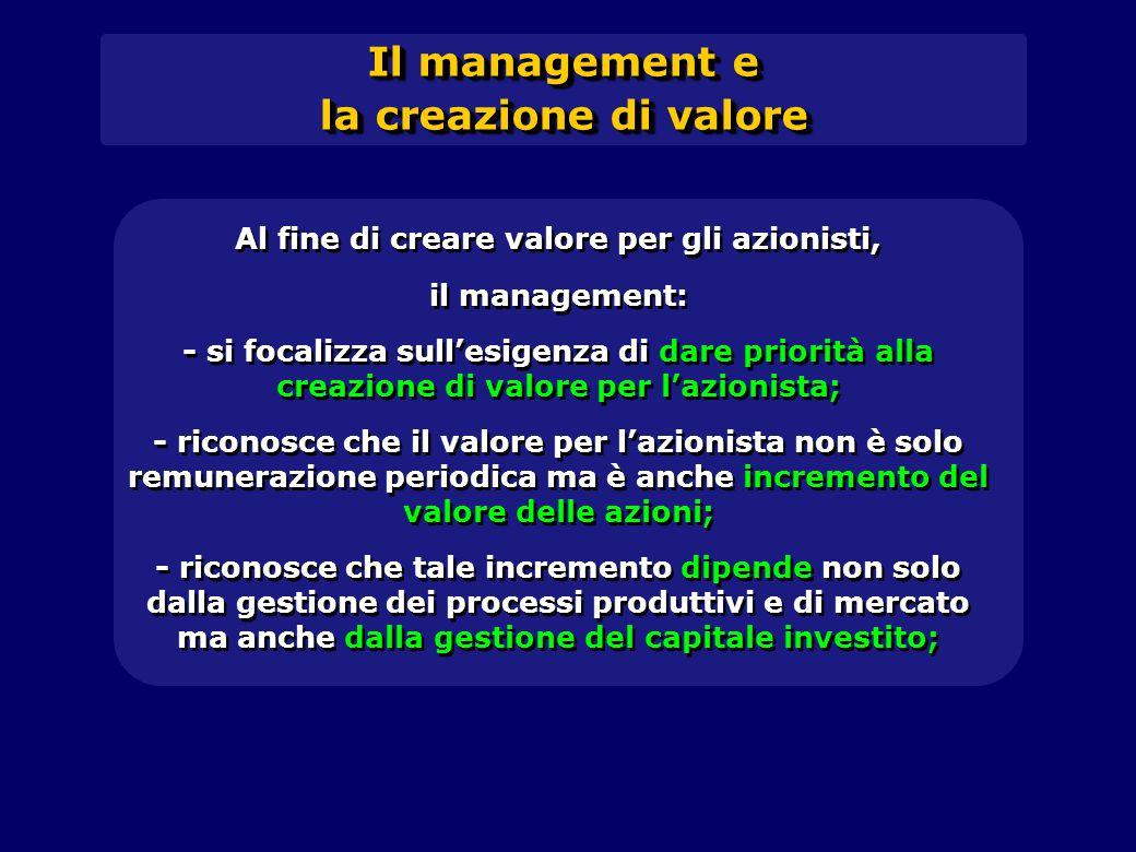 Al fine di creare valore per gli azionisti,