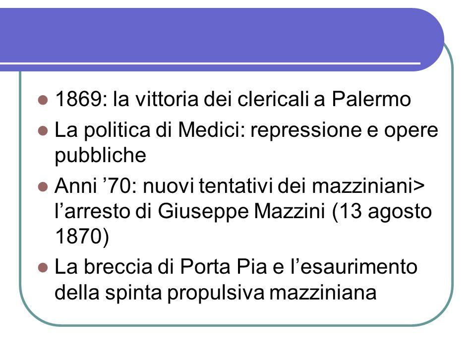 1869: la vittoria dei clericali a Palermo