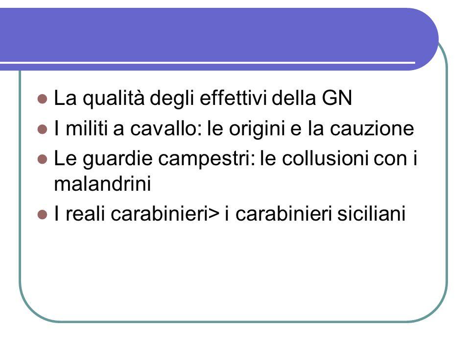 La qualità degli effettivi della GN
