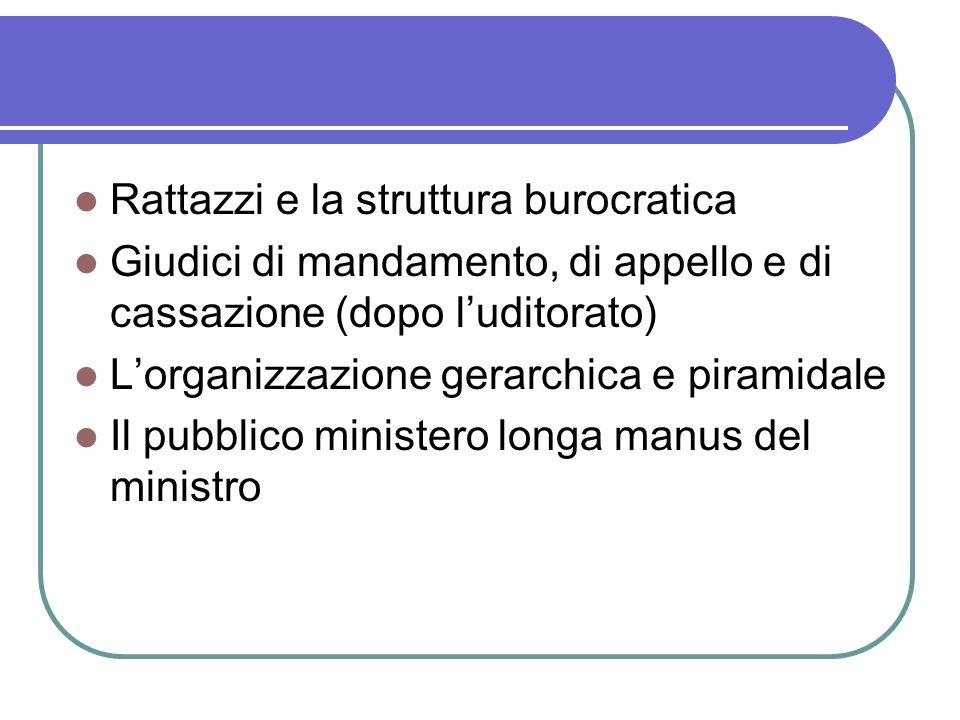 Rattazzi e la struttura burocratica