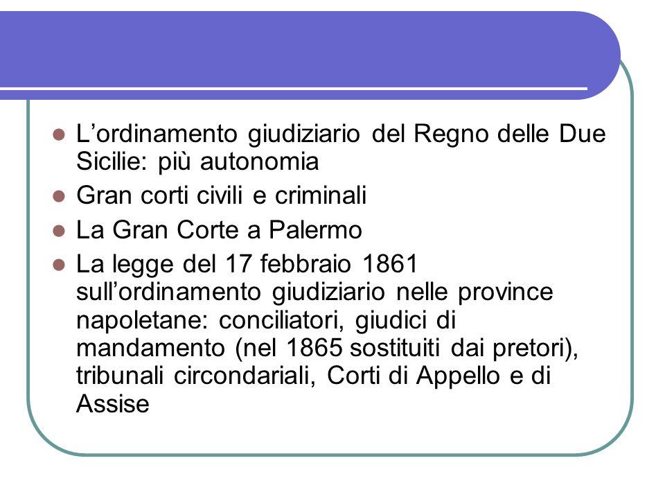 L'ordinamento giudiziario del Regno delle Due Sicilie: più autonomia
