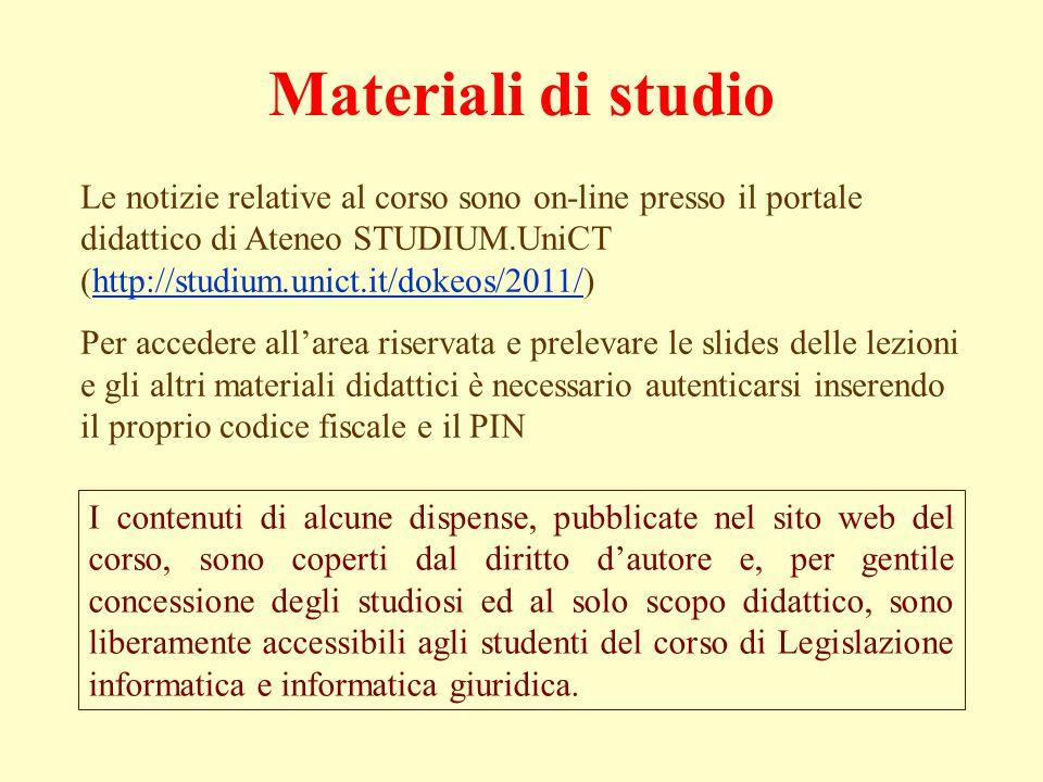 Materiali di studio