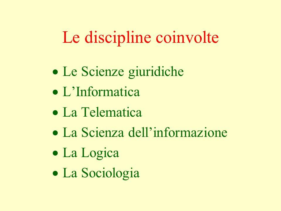 Le discipline coinvolte