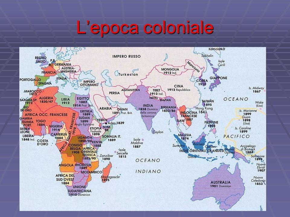 L'epoca coloniale