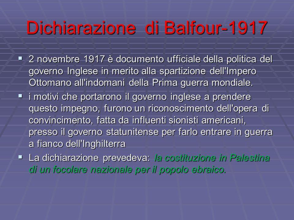 Dichiarazione di Balfour-1917