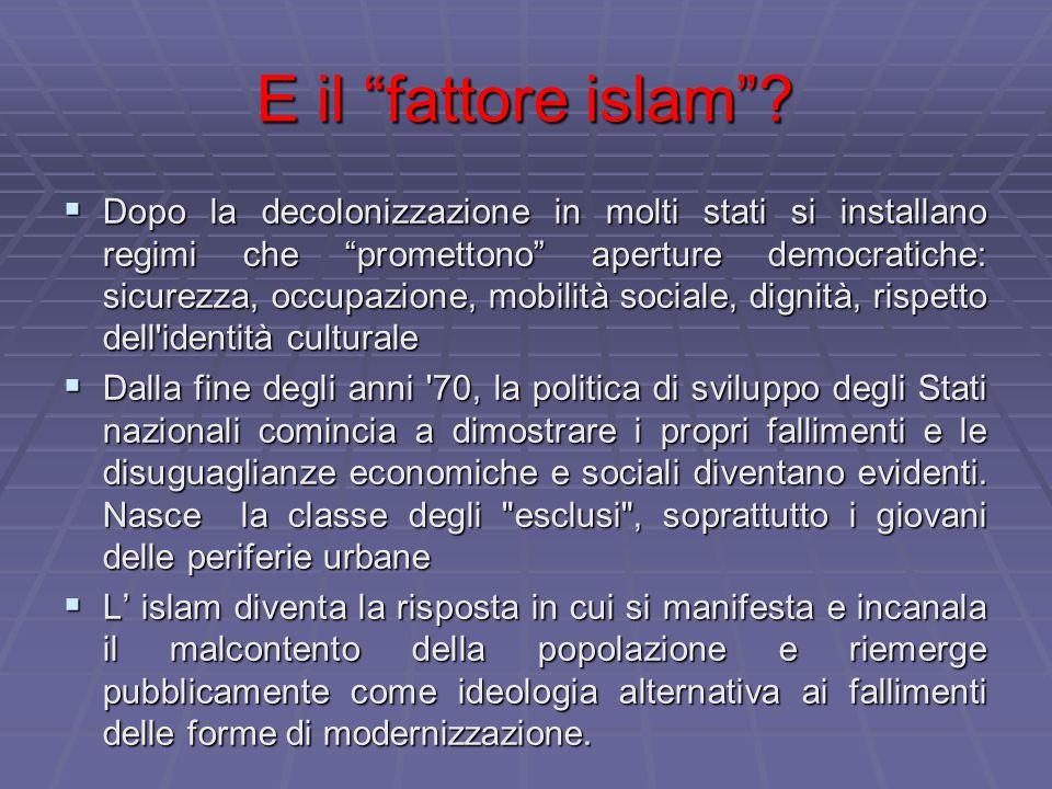 E il fattore islam