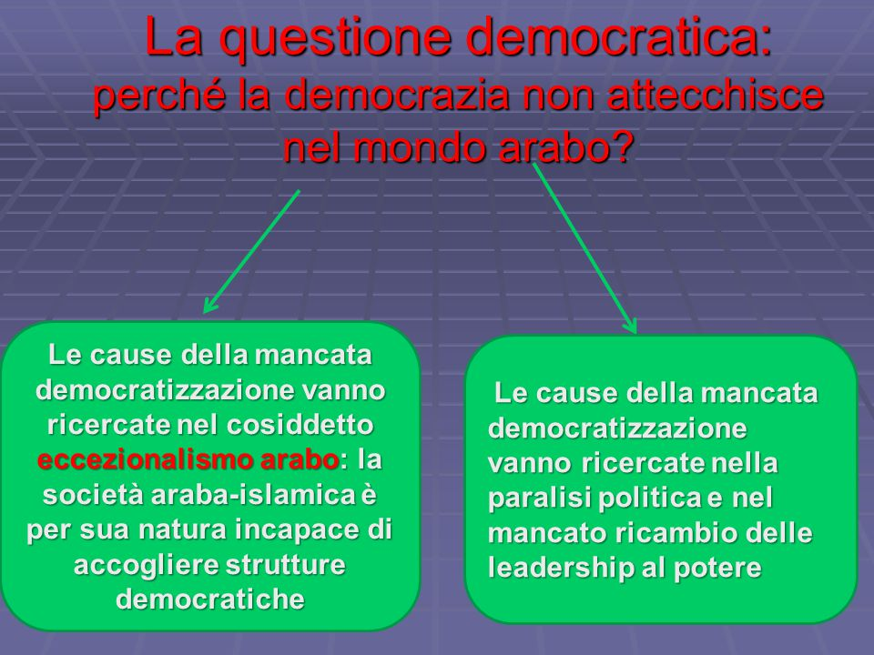 La questione democratica: perché la democrazia non attecchisce nel mondo arabo