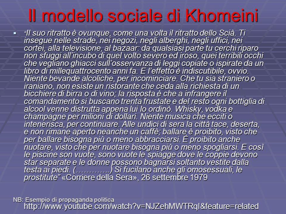 Il modello sociale di Khomeini